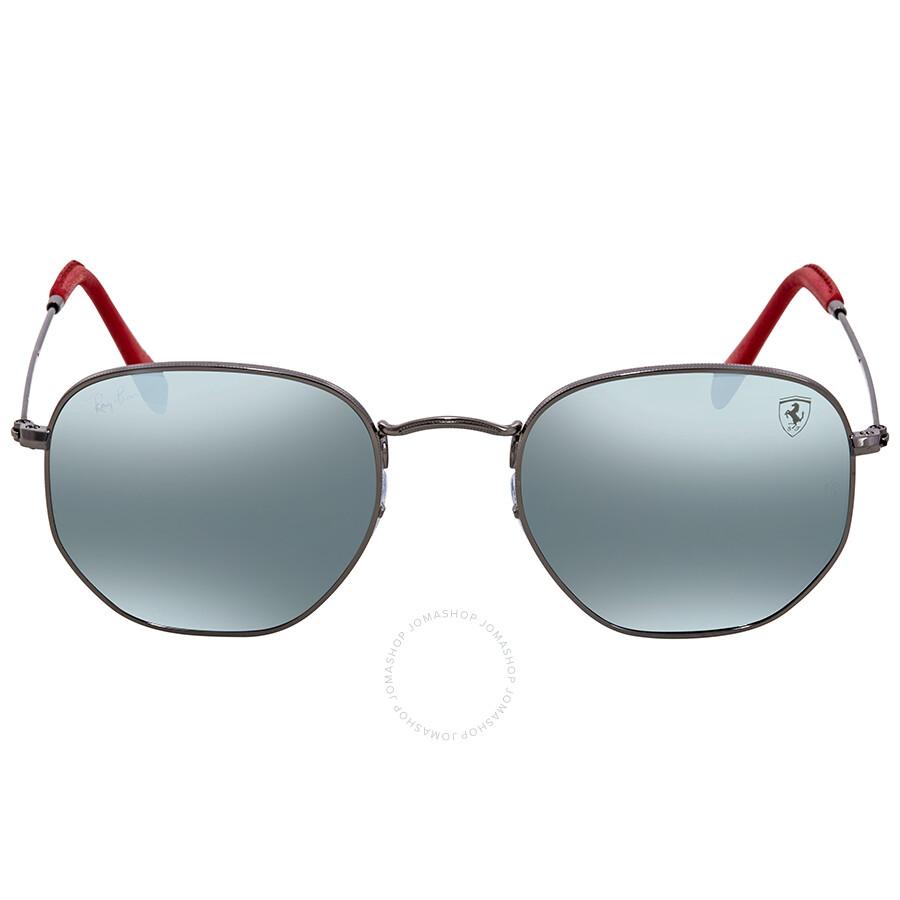 7809ac959c ... Ray Ban Scuderia Ferrari Silver Flash Sunglasses RB3548NM F00130 51 ...