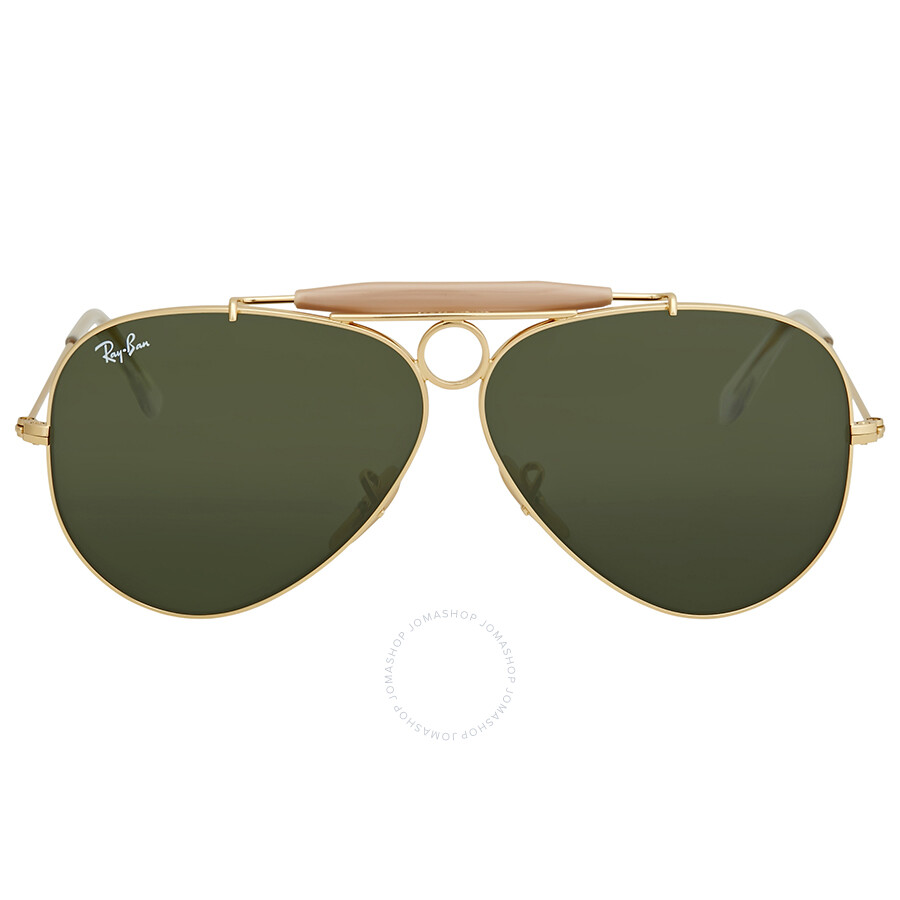 281e550f88 Ray Ban Shooter Green Classic G-15 Men s Sunglasses RB3138 001 58 ...