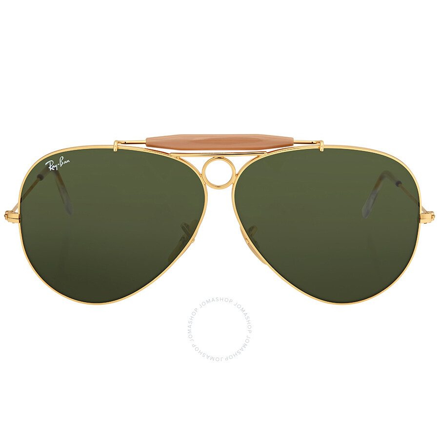 0aa9617123 Ray Ban Shooter Green Classic G-15 Men s Sunglasses RB3138 001 62 ...
