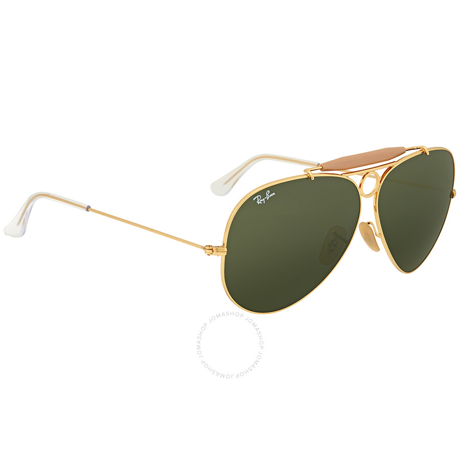 4ed4e3af8 ... Ray Ban Shooter Green Classic G-15 Men's Sunglasses RB3138 001 62 ...