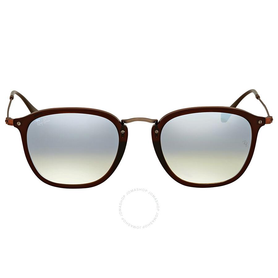 3eccfe125c Ray Ban Silver Gradient Flash Square Sunglasses Item No. RB2448N 62569U 51