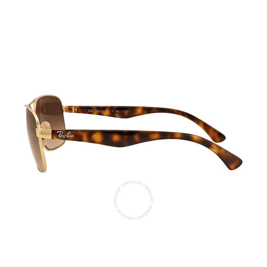 5cedb8eee18 ... Ray Ban Square Arista Double Bridge Tortoise-Shell Frame Brown Gradient  Green Lenses Sunglasses RB3516 ...