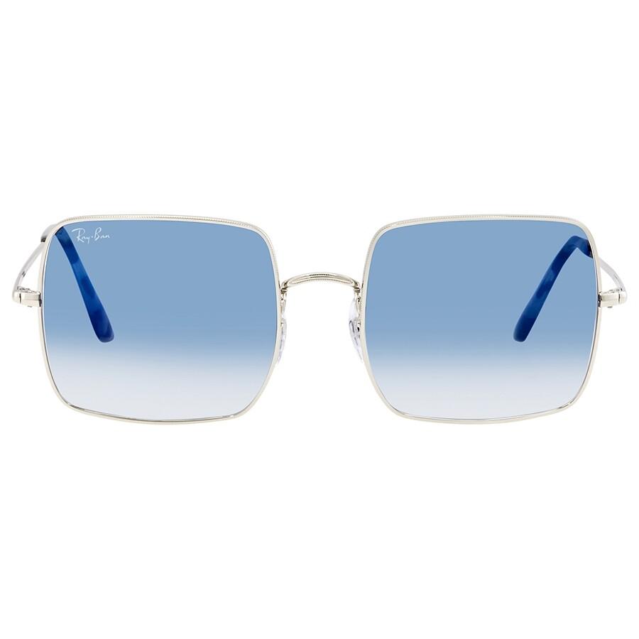 80c363c629b7 ... Ray Ban Square Classic Light Blue Sunglasses RB1971 91493F 54 ...