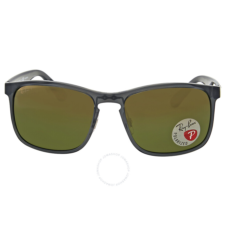 747e234bc8b0e Ray Ban Square Polarized Green Mirror Chromance Sunglasses Item No. RB4264  876 6O 58