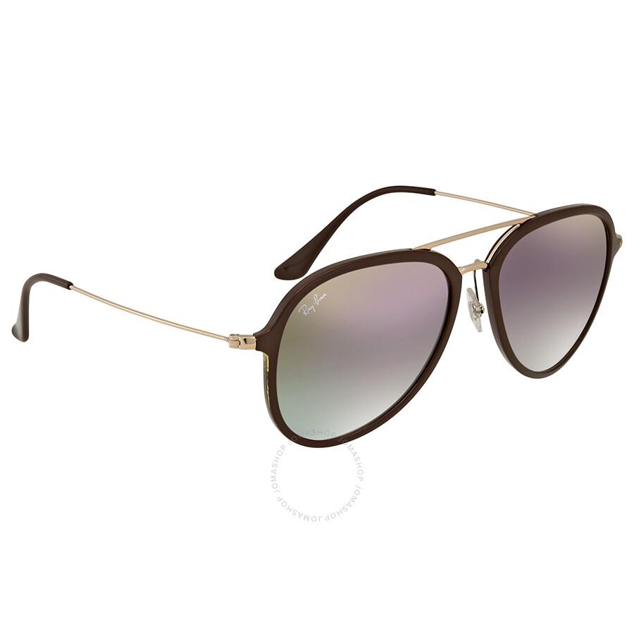 08c2f753b44 Ray Ban Violet Gradient Aviator Sunglasses RB4298 6335S5 57 ...