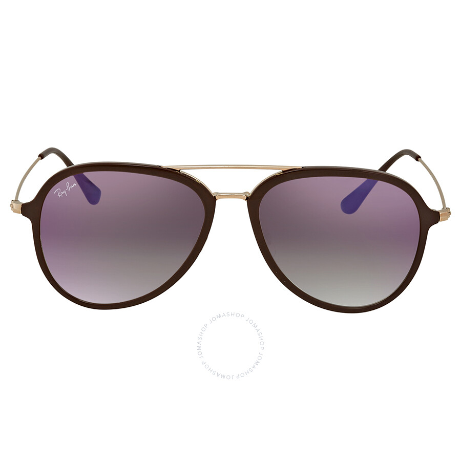 7e3993b761 ... Ray Ban Violet Gradient Aviator Sunglasses RB4298 6335S5 57 ...