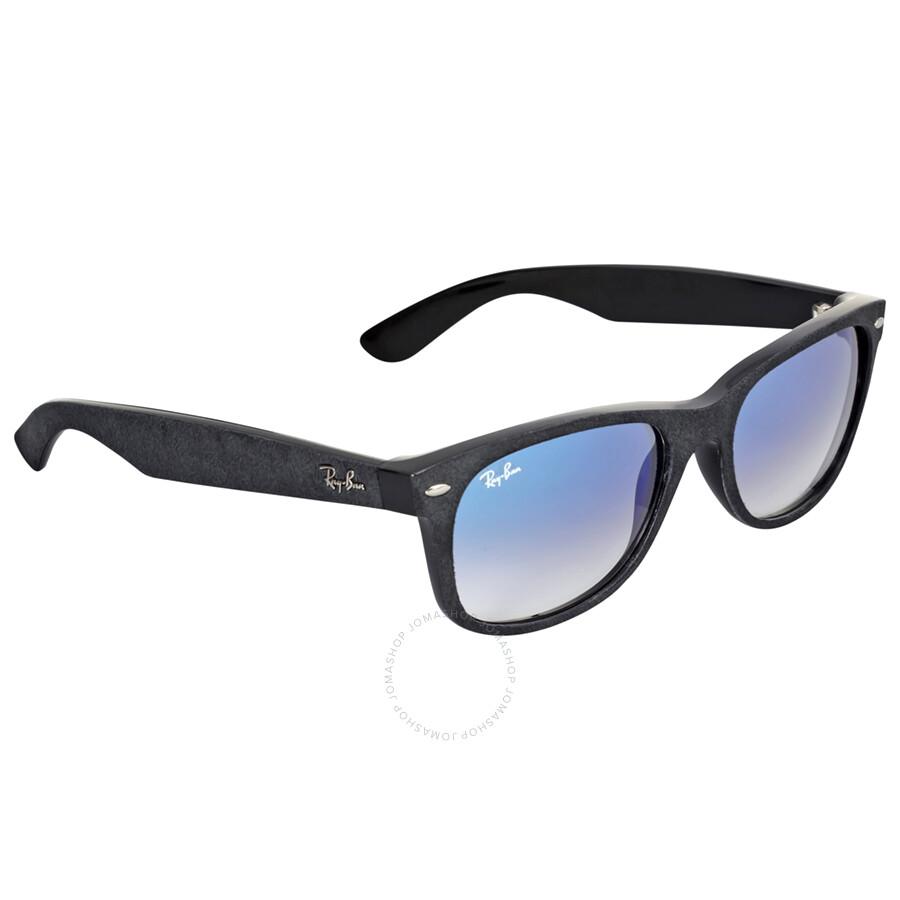 fed3a61e3f ... Ray-Ban Wayfarer Alcantara Light Blue Gradient Sunglasses RB2132 62423F  55-18 ...