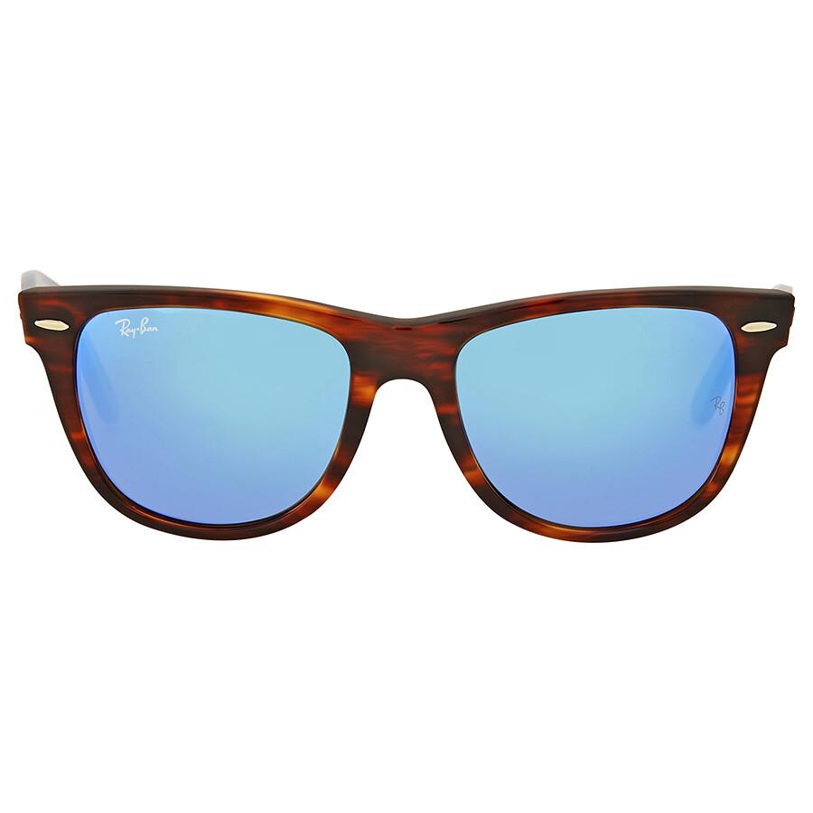 Ray ban wayfarer classic blue flash mirror sunglasses for Mirror sunglasses