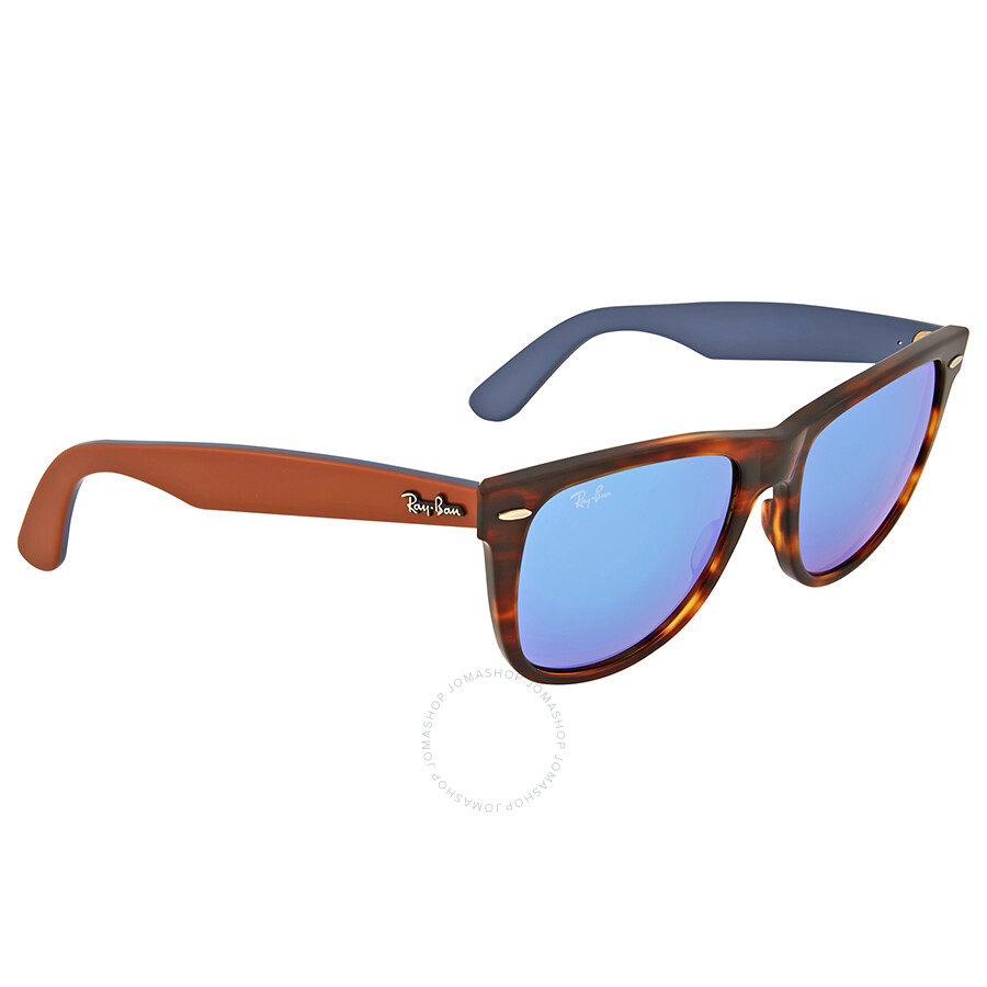 ray ban wayfarer classic blue flash mirror sunglasses wayfarer ray ban sunglasses jomashop. Black Bedroom Furniture Sets. Home Design Ideas