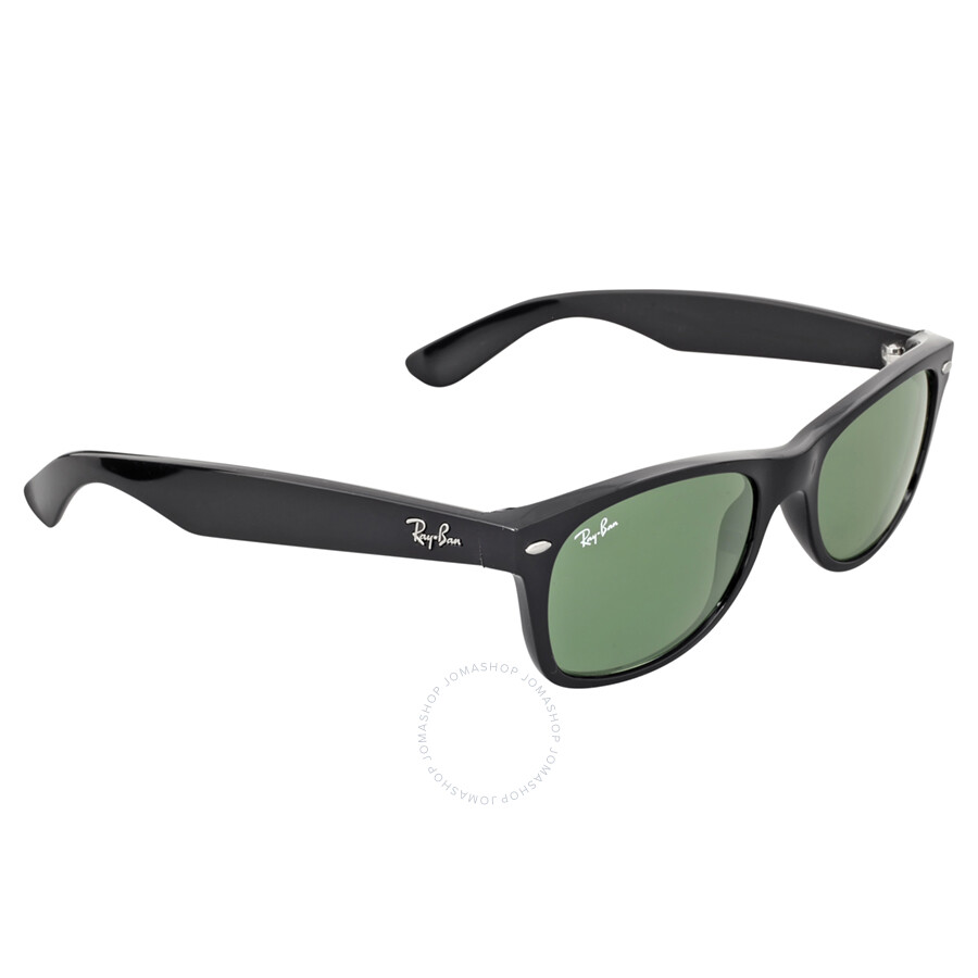 ... Ray-Ban New Wayfarer G-15 Black Nylon 52mm Sunglasses 2132-901- ...