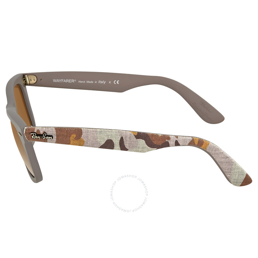 27fb6e6ed0301 ... Ray Ban Wayfarer Classic Urban Camouflage Brown Gradient Lens 50mm Sunglasses  RB2140-50-6063 ...