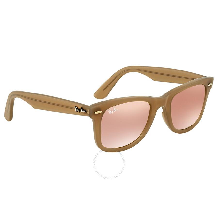 b8204000726 Ray Ban Wayfarer Ease Copper Gradient Flash Wayfarer Sunglasses RB4340  61667Y 50 ...