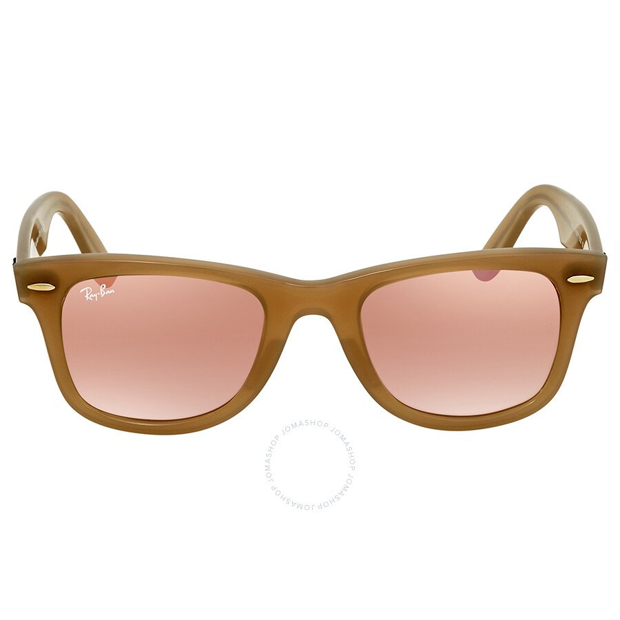 09358e9f2364 ... Ray Ban Wayfarer Ease Copper Gradient Flash Wayfarer Sunglasses RB4340  61667Y 50 ...