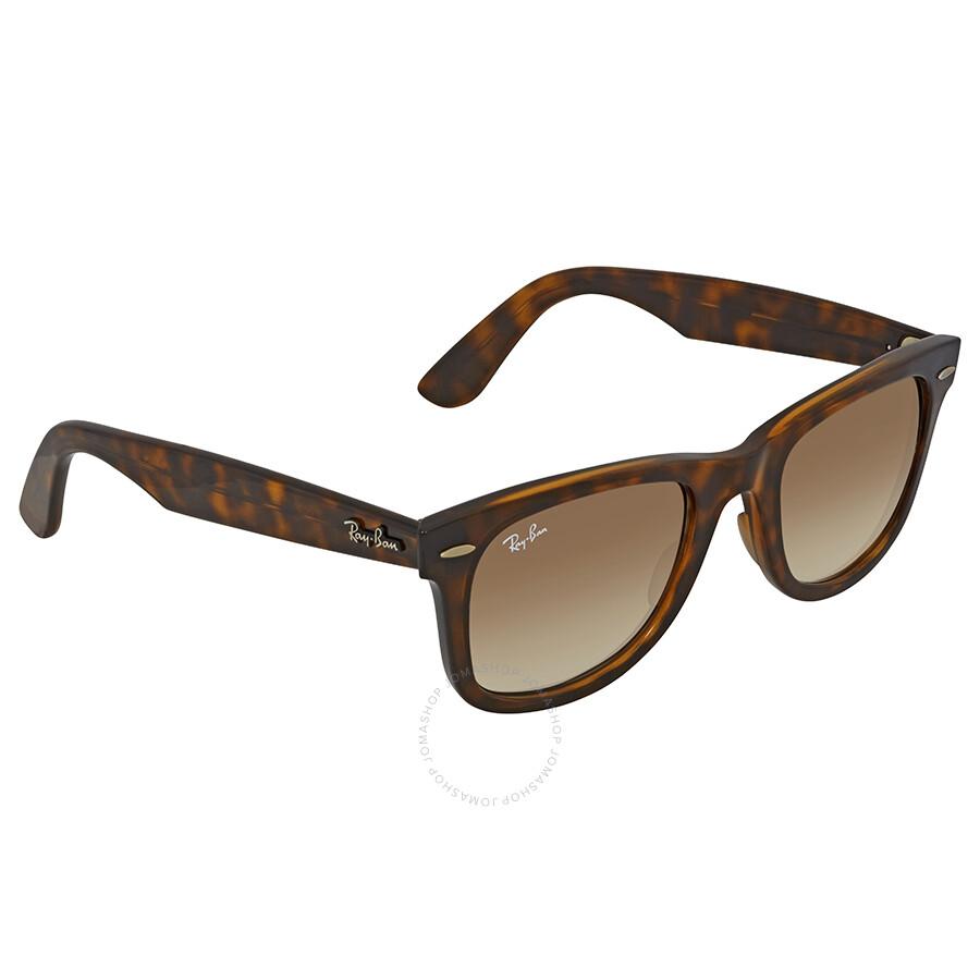 ac45b8c935 Ray Ban Wayfarer Ease Light Brown Gradient Square Sunglasses RB4340 710 51  50 ...
