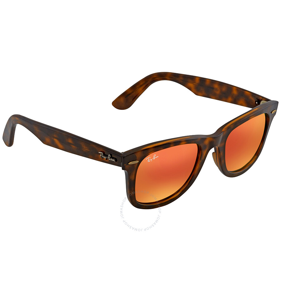8fd2ff737a8 Ray Ban Wayfarer Ease Orange Gradient Flash Square Sunglasses RB4340 710 4W  50 ...