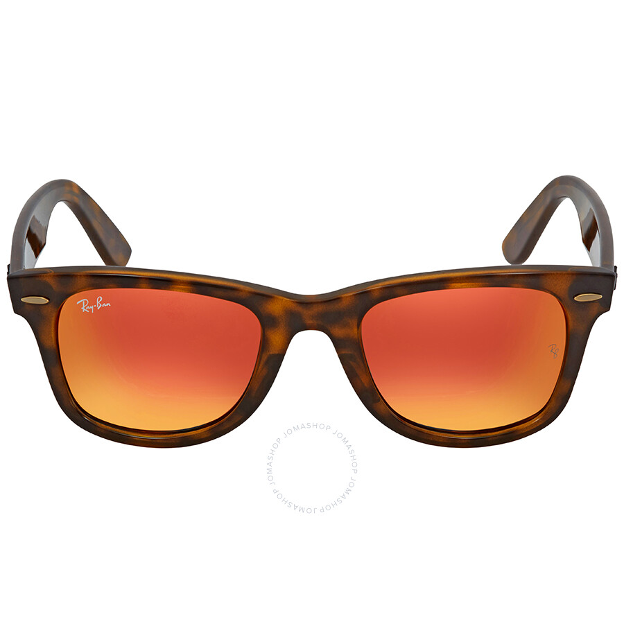 11df528367f ... Ray Ban Wayfarer Ease Orange Gradient Flash Square Sunglasses RB4340  710 4W 50 ...