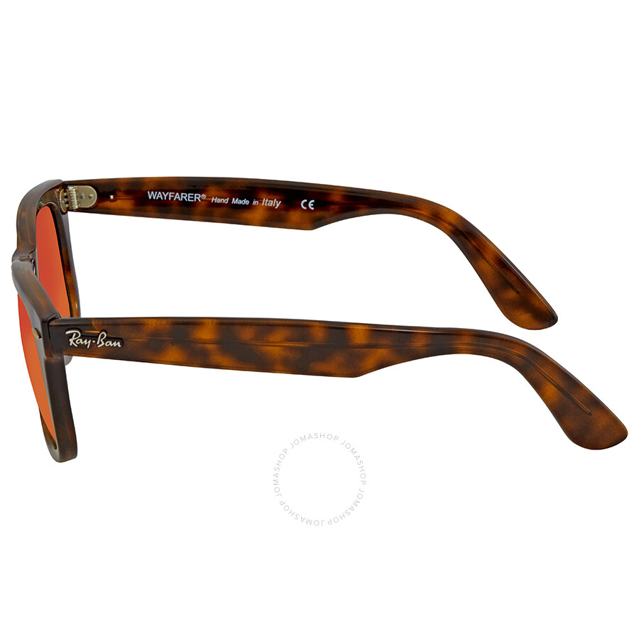 0f22aa174a ... Ray Ban Wayfarer Ease Orange Gradient Flash Square Sunglasses RB4340  710 4W 50