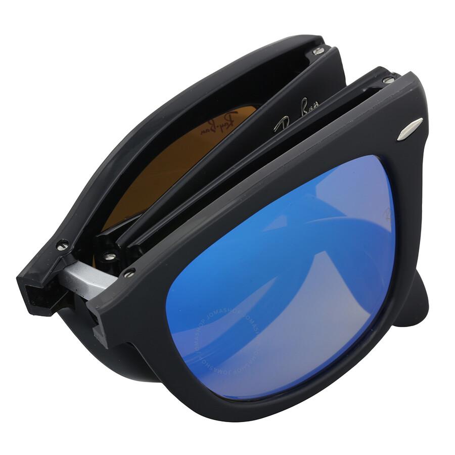 4fc692de14 Ray Ban Wayfarer Folding Blue Gradient Flash Sunglasses - Wayfarer ...