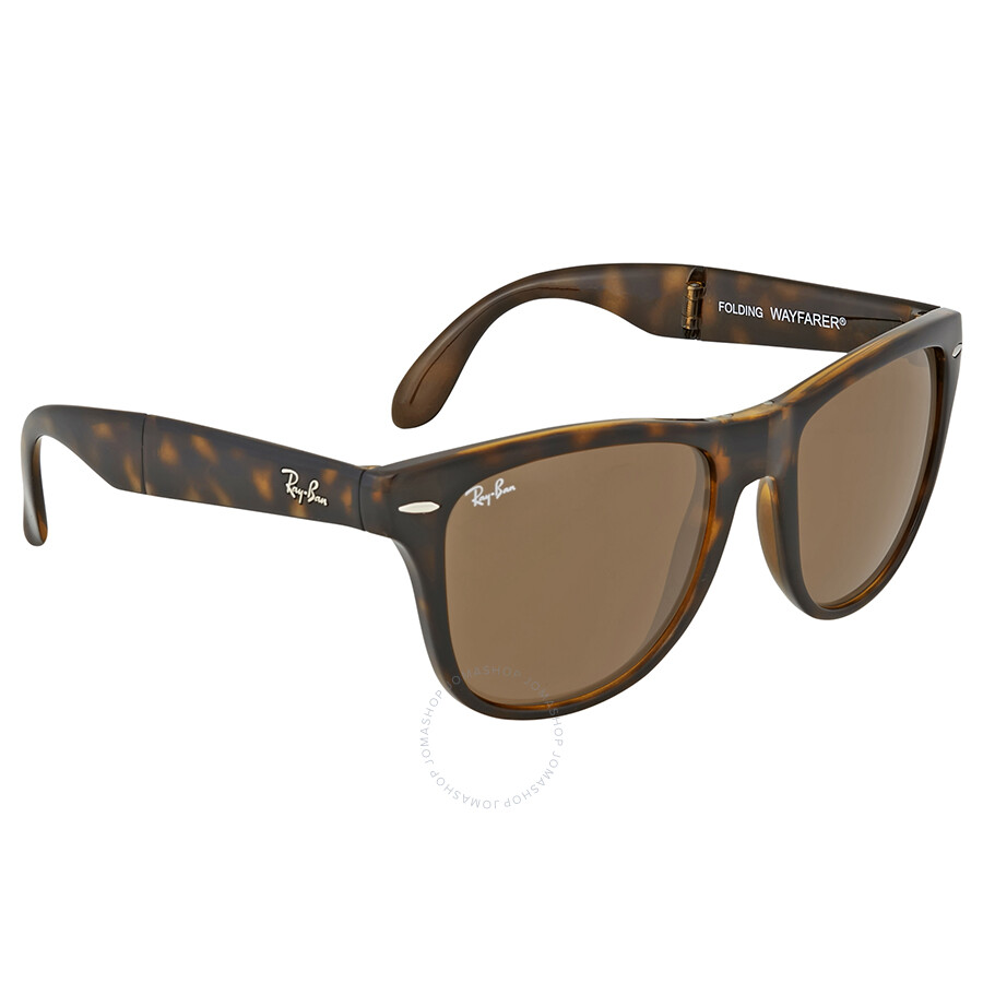ray ban wayfarer folding classic brown sunglasses wayfarer ray ban sunglasses jomashop. Black Bedroom Furniture Sets. Home Design Ideas