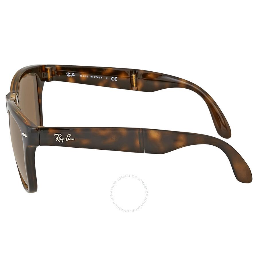 ad1ba40cf106 Ray-Ban Wayfarer Folding Classic Brown Sunglasses - Wayfarer - Ray ...