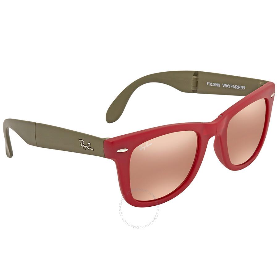 25dc9133cd ... Ray Ban Wayfarer Folding Copper Flash Sunglasses RB4105 6050Z2 50 ...
