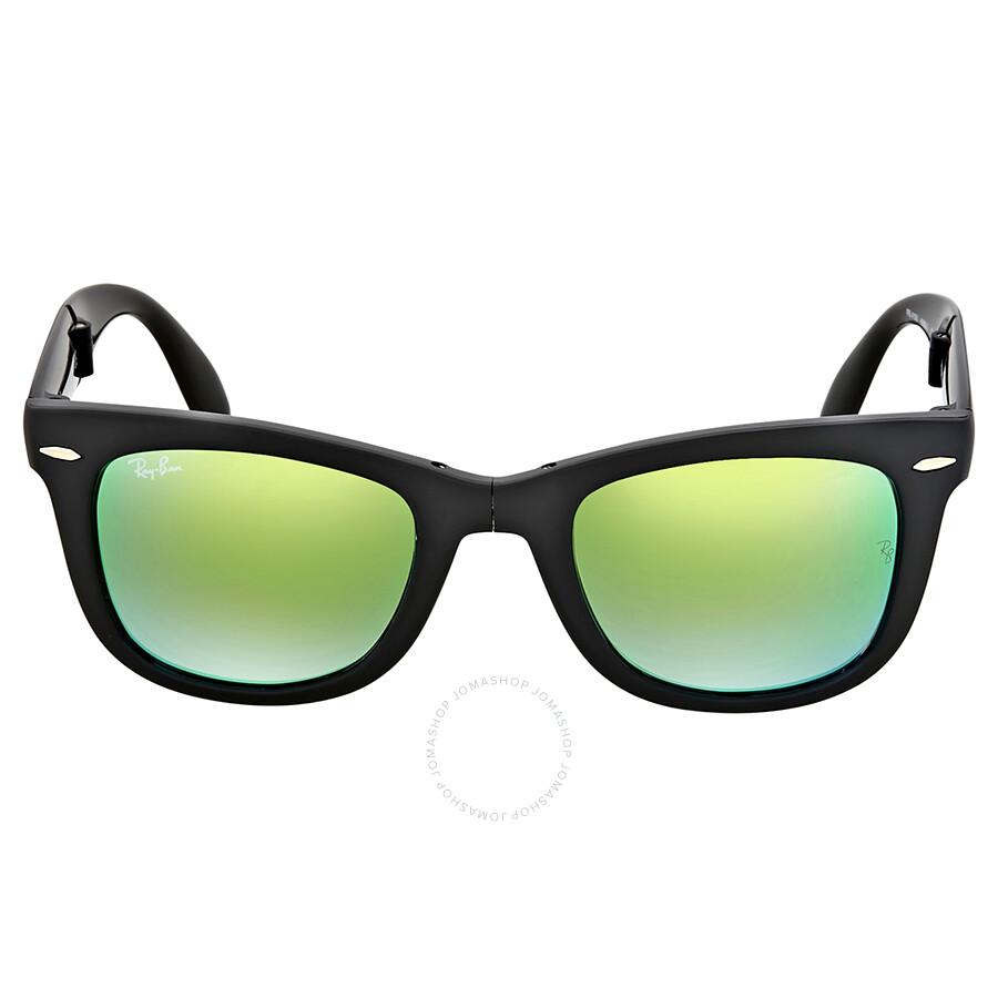 2e8886feb Ray Ban Wayfarer Folding Green Gradient Flash Sunglasses Item No. RB4105  60694J 50