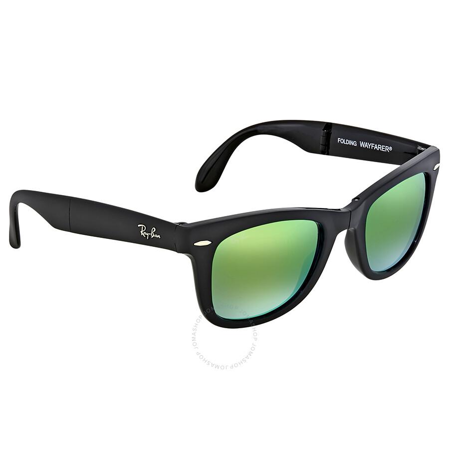 Ray ban wayfarer folding green gradient flash sunglasses for Ray ban wayfarer verre miroir