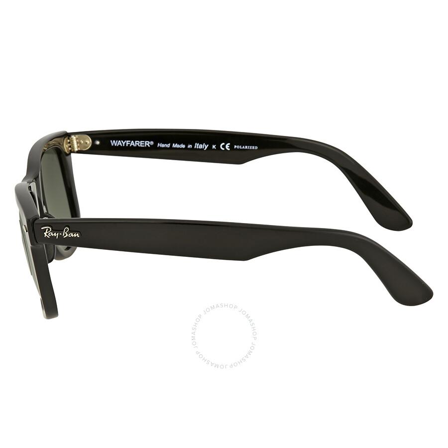 a3e1b9c6ba ... Ray Ban Wayfarer Green Classic G-15 Square Sunglasses RB4340 601 58 50