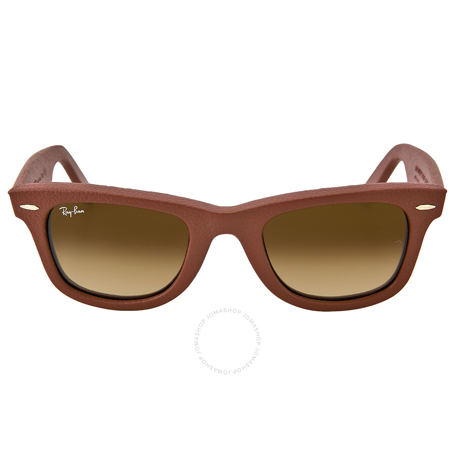 Ray Ban Wayfarer Leather Brown Gradient Brown Frame ...