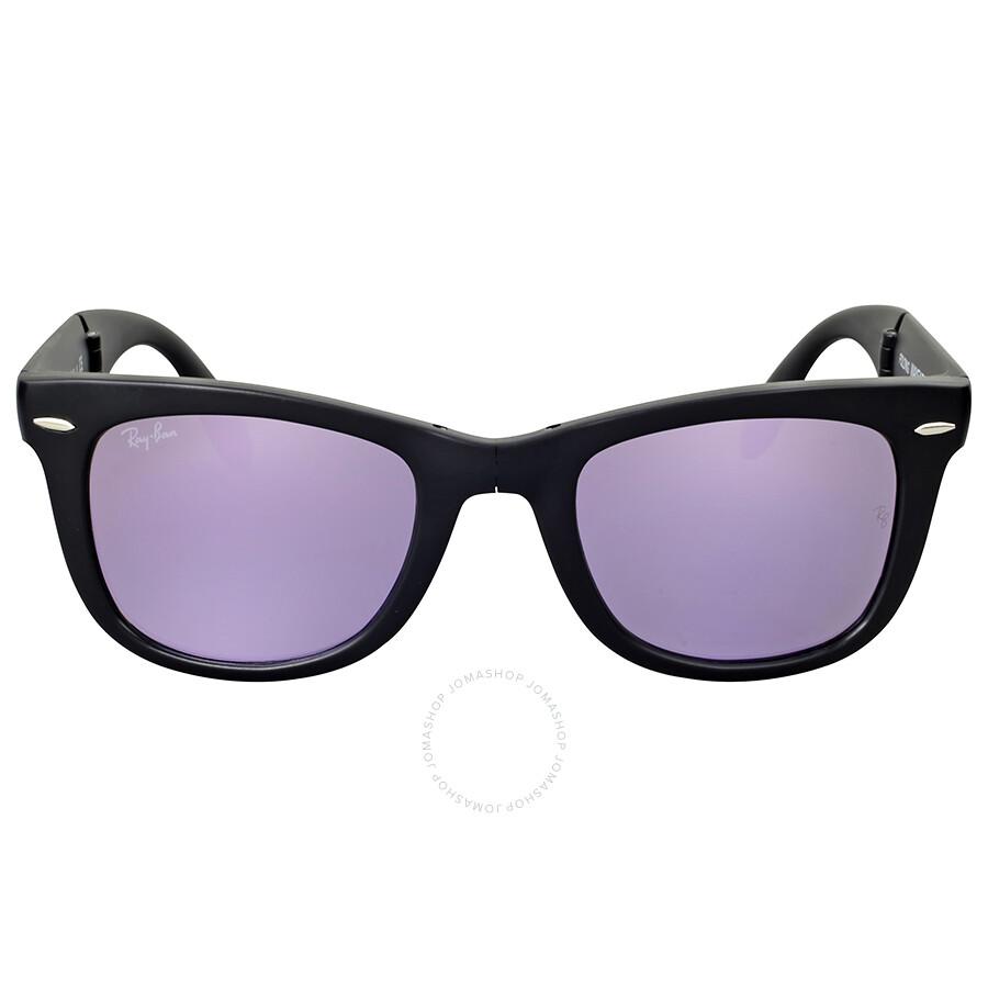 ray ban sunglasses wayfarer 8os6  Ray Ban Wayfarer Lilac Mirror Sunglasses