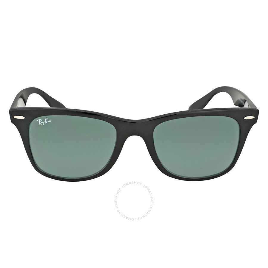 ray ban wayfarer liteforce 52mm black green classic wayfarer ray ban sunglasses jomashop. Black Bedroom Furniture Sets. Home Design Ideas