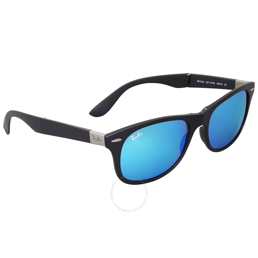 blue ray ban wayfarer sunglasses  ray ban wayfarer liteforce blue mirror sunglasses