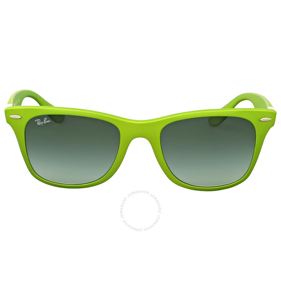 bae5e0dd9 Ray Ban Wayfarer Liteforce Green Sunglasses Item No. RB4195 60868E 52