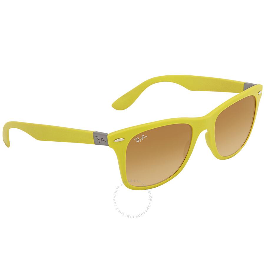 3497b19eedd ... Ray Ban Wayfarer Liteforce Yellow Brown Gradient Wayfarer Sunglasses  RB4195 60852L 52 ...
