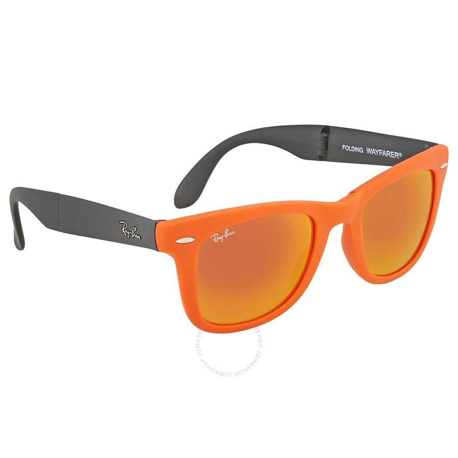 29d776f15a979 ... Ray Ban Wayfarer Orange Flash Wayfarer Sunglasses RB4105 601969 50 ...