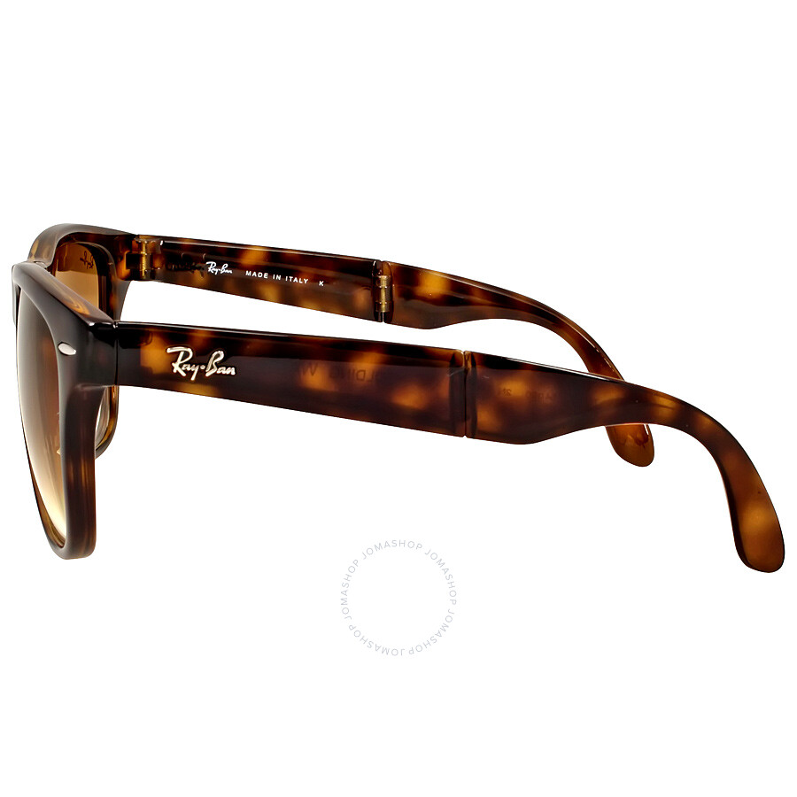 ray ban folding wayfarer tortoise sunglasses  ray ban wayfarer tortoise frame folding sunglasses rb4105 710/51 54