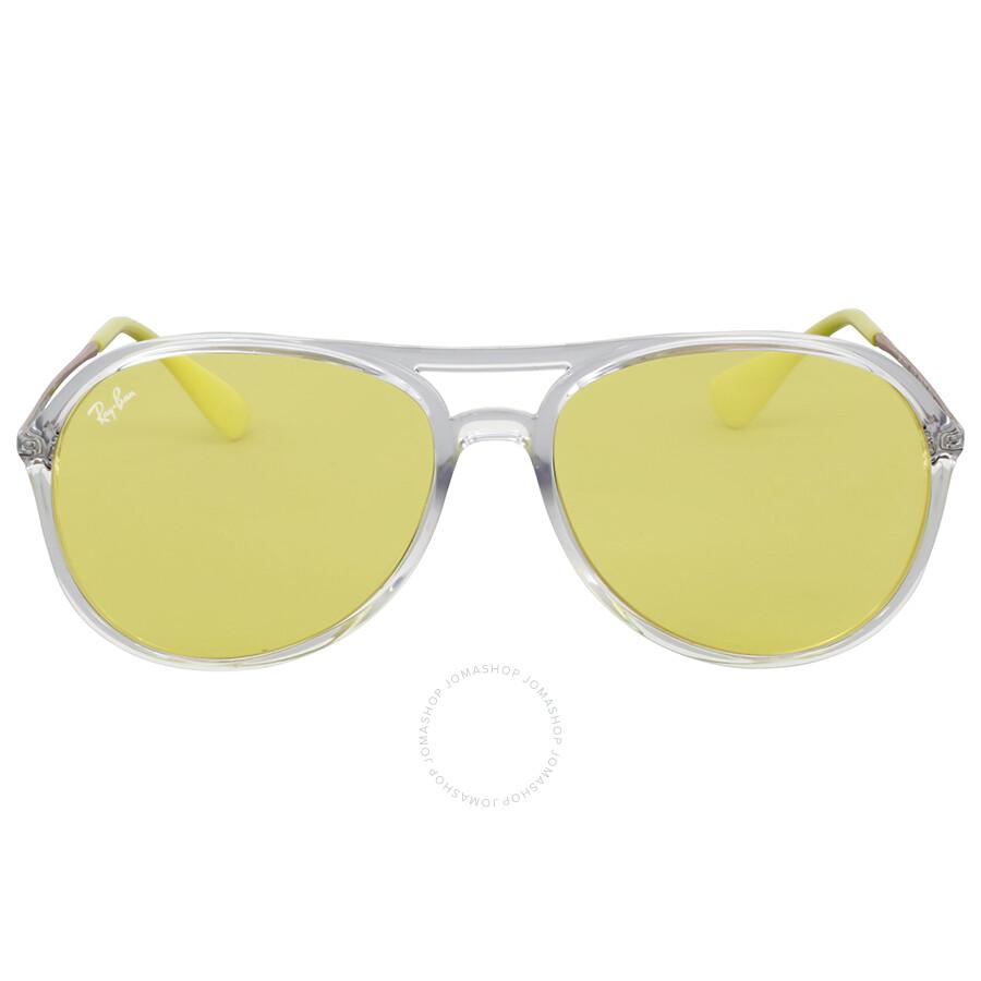 ed3b46221c Ray Ban Yellow Classic Transparent Aviator Sunglasses Item No. RB4201  6295C9 59