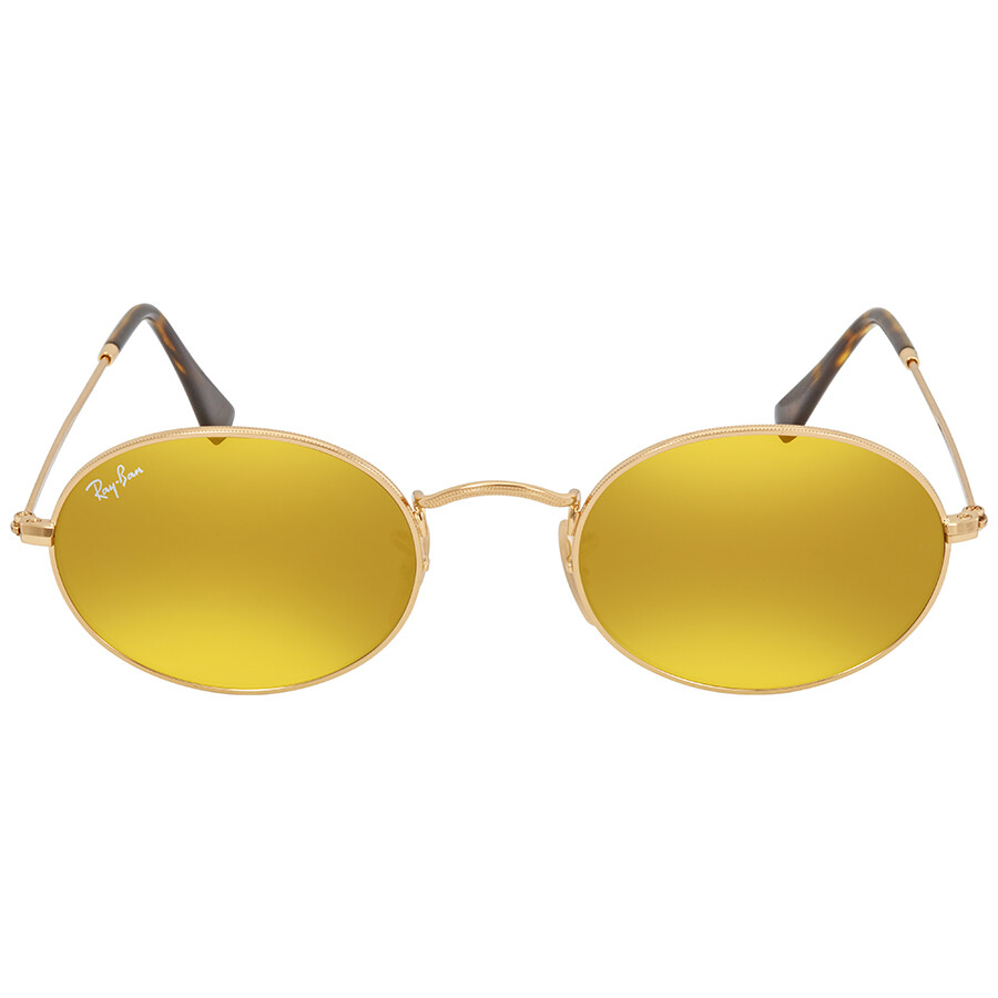 16e89cc52e Ray Ban Yellow Flash Oval Sunglasses RB3547N 001 93 51 - Round - Ray ...