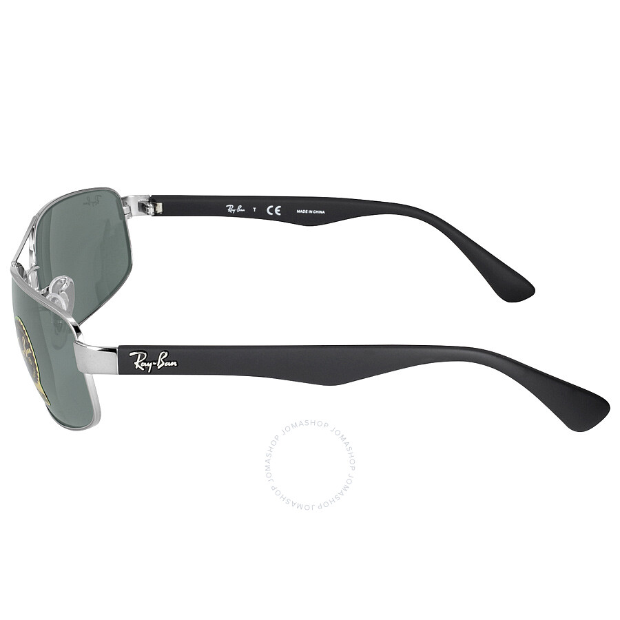 80ace1685a7 Ray-Ban Active Gunmetal Frame Green Lens Sunglasses RB3445 004 61 ...