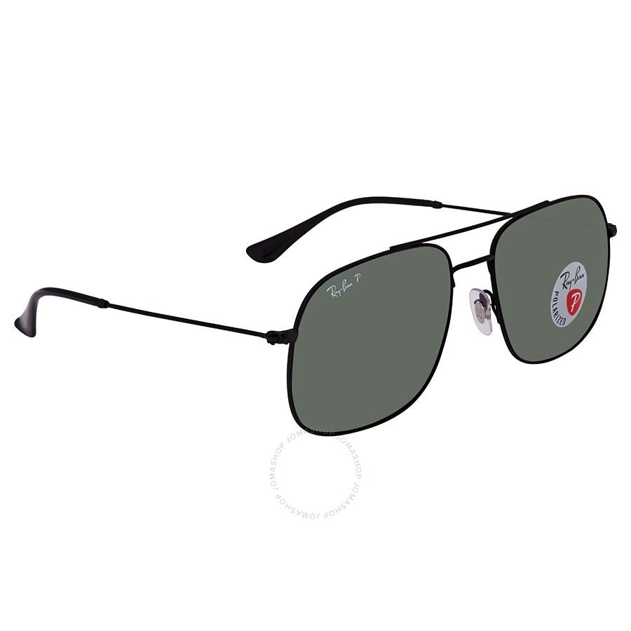 25f55572db6c RayBan Andrea Classic Green Square Sunglasses RB3595 90149A59 ...