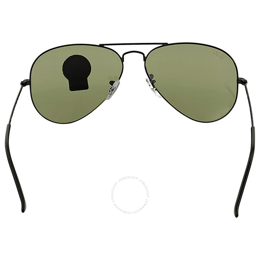 Ray-Ban Aviator Black/Green Sunglasses RB3025 L2823 - Aviator