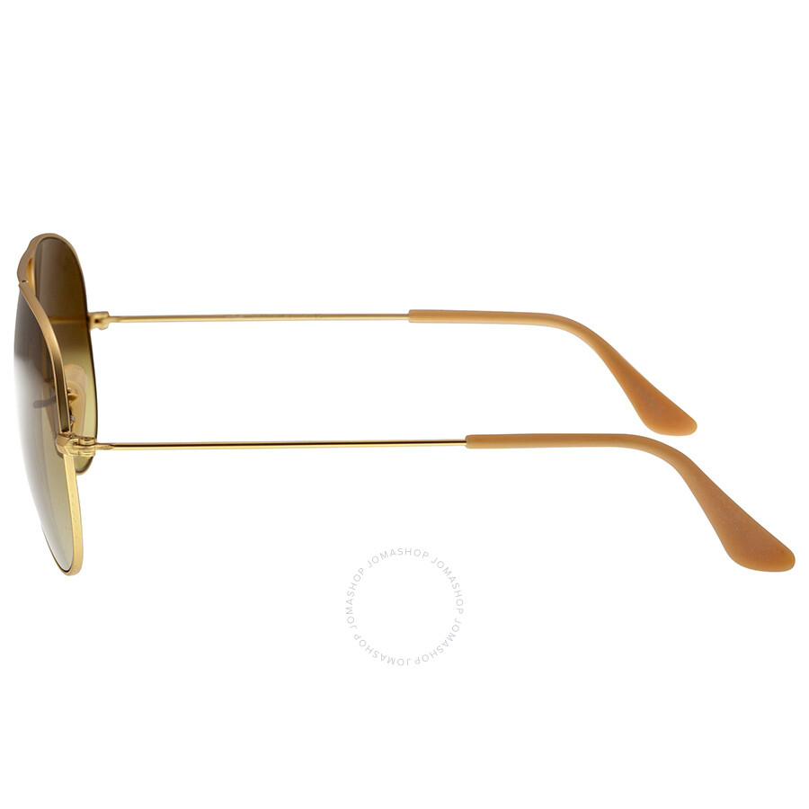 ray ban matte gold aviator  RayBan Aviator Matte Gold Brown 58mm Unisex Sunglasses 11285 ...