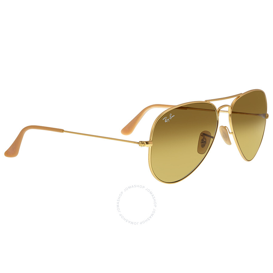 9ab8d9f9c ... RayBan Aviator Gold Brown Gradient 58mm Unisex Sunglasses 11285 ...