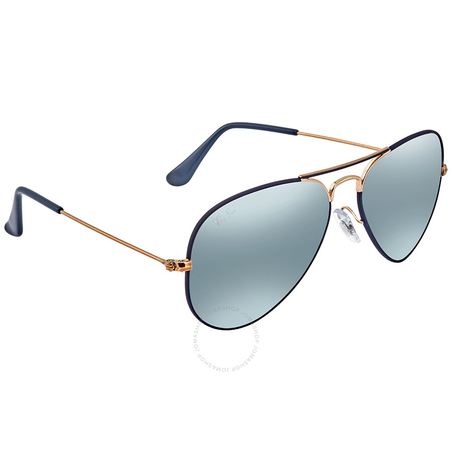 09fc38390 RayBan Aviator Mirror RB3025 Bronze Copper Blue Gradient Mirror Sunglasses  RB30259156AJ55 ...