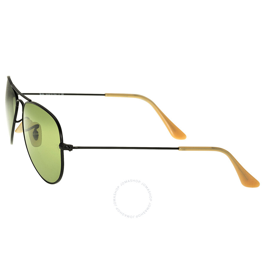 Ray Ban Small Frame Glasses : Ray-Ban Aviator Small Metal Black Frame Green Lens Mens ...