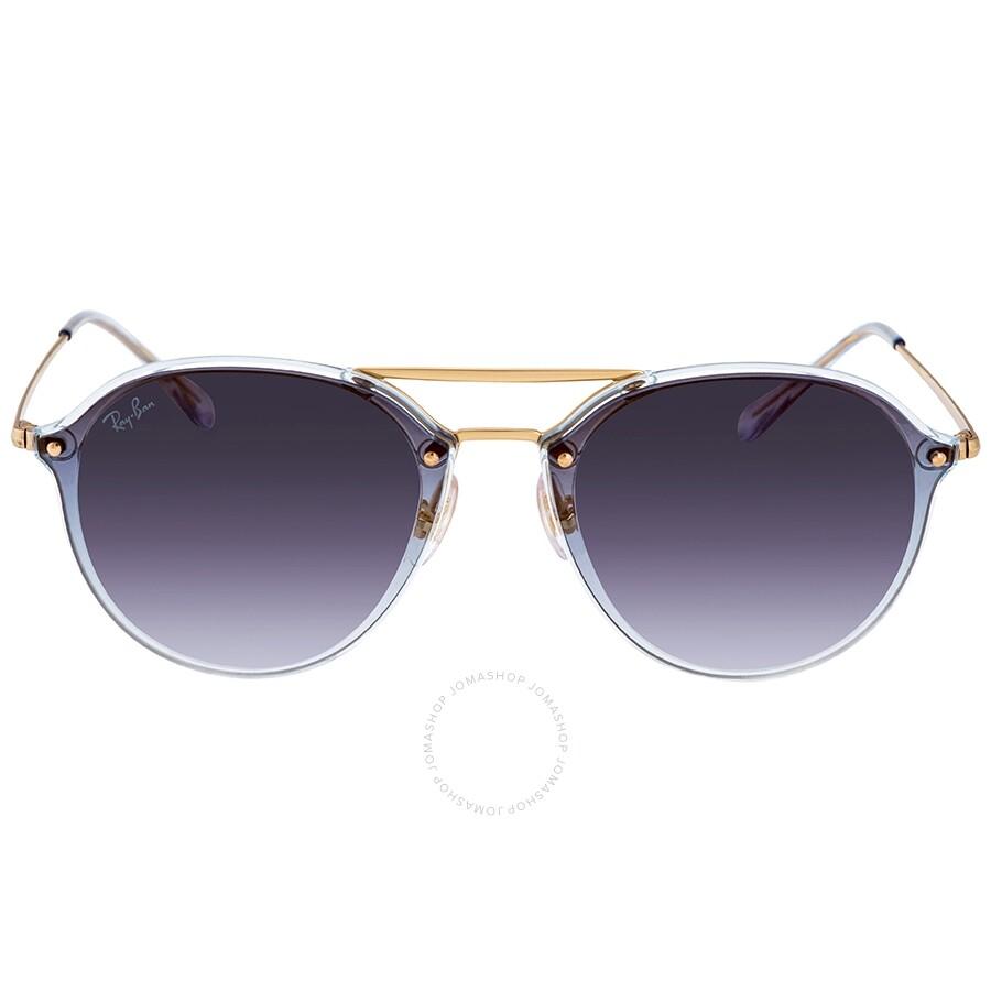 cc2b8623b ... Ray Ban Blaze Double Bridge Blue Gradient Mirror Round Sunglasses  RB4292N 63890S 62 ...