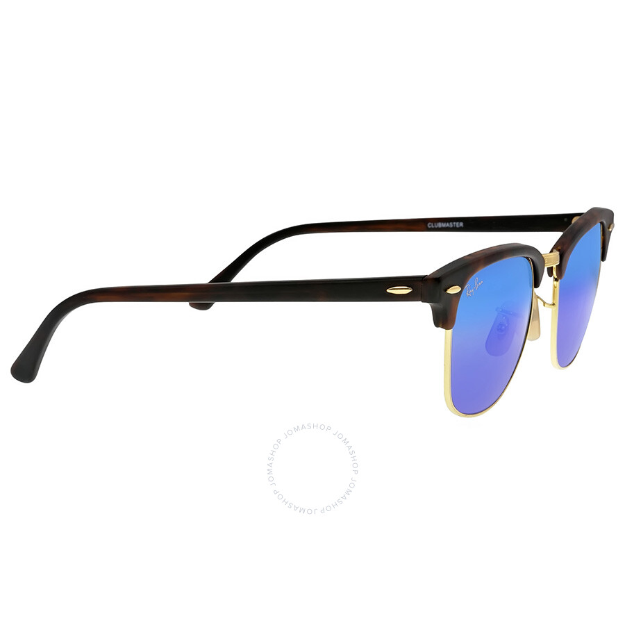 64b043d4a3c ... Ray-Ban Classic Clubmaster Blue Flash Lenses Tortoise-shell Plastic  Frame Men s Sunglasses RB3016 ...