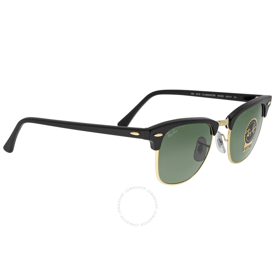 rb3016 49 clubmaster dxyk  Ray-Ban Clubmaster Black 49mm Sunglasses RB3016-W0365-49