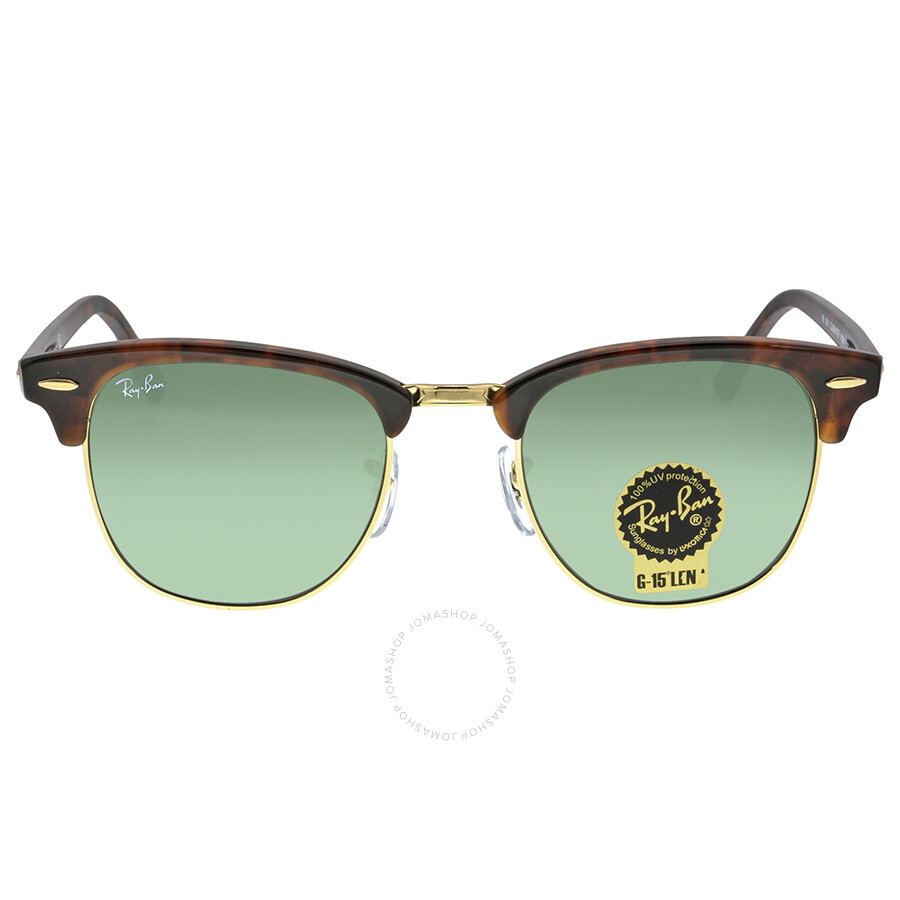 레이밴 Ray Ban 클럽마스터 Clubmaster Tortoise Arista 51mm Sunglasses RB3016 W0366 51-21