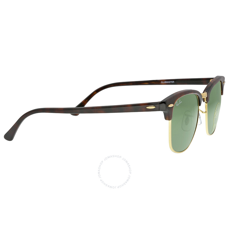 ray ban clubmaster polarized tortoise  Ray-Ban Clubmaster Tortoise Arista 51mm Sunglasses RB3016 W0366 51 ...